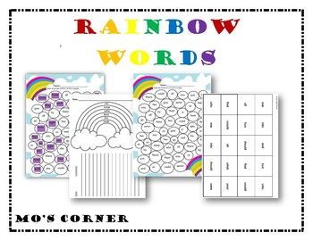Rainbow Word Bundle