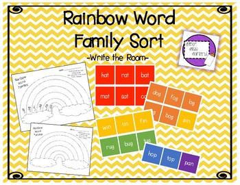 Rainbow Word Family Write the Room