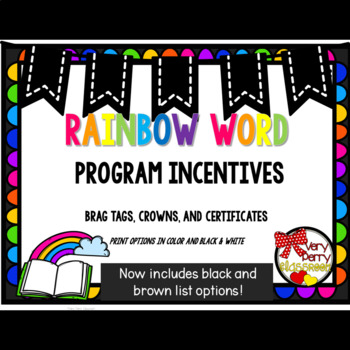 Rainbow Word Incentives