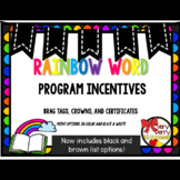 Rainbow Word Incentives