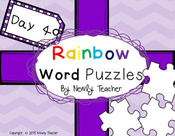 Rainbow Word Puzzles