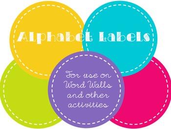Rainbow Word Wall Alphabet