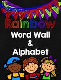 Rainbow Word Wall & Alphabet {Sitton High Frequency Words}