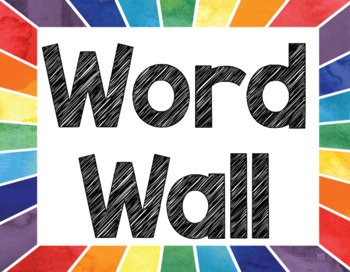 Rainbow Word Wall, Alphabet, and Numbers