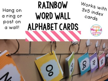 Rainbow Word Wall Cards