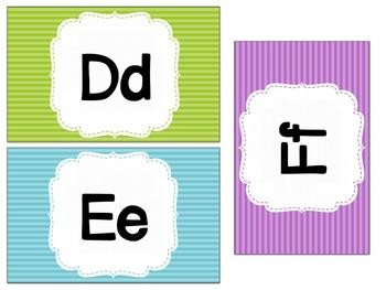 Rainbow Word Wall Cards