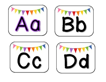 Rainbow Word Wall Cards and Letter Labels