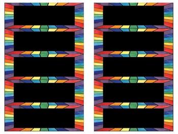 Rainbow Word Wall - Editable!