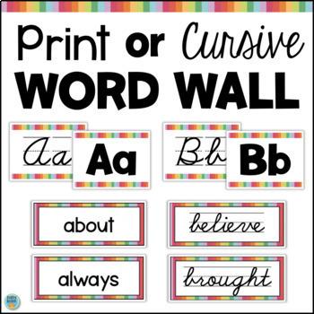 Editable Intermediate Word Wall