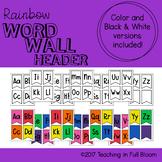 Rainbow Word Wall Header