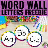 Word Wall Letters - Rainbow Theme