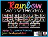 Rainbow Word Wall Headers