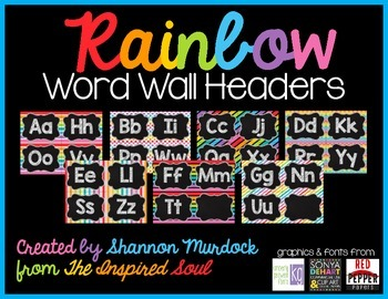 Rainbow Word Wall Headers