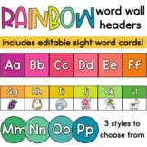 Rainbow Word Wall Letters or Headers   Classroom Decor   Back to School Decor