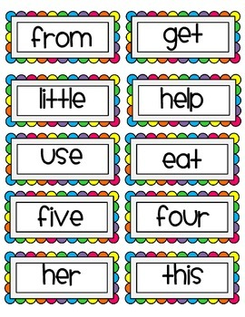 Rainbow Word Wall Headers &High Frequency Word Cards: Reading Street 1st Grade