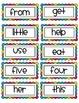 Rainbow Word Wall Headers &High Frequency Word Cards: Read