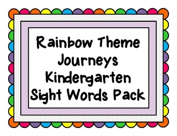 Rainbow Word Wall K Sight Words Pack