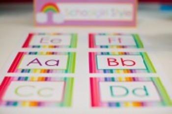 Classroom Decor Rainbow Word Wall Labels