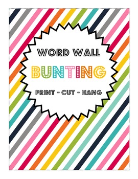 Rainbow Word Wall Letter Bunting