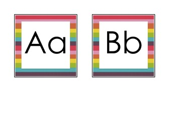Rainbow Word Wall Letters {FREE}
