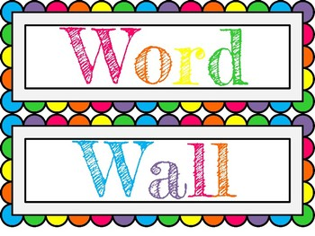 Word Wall Letters Rainbow Word Wall Letterslibrary Lauren  Teachers Pay Teachers