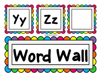 Rainbow Word Wall Pack