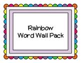 Rainbow Word Wall Pack