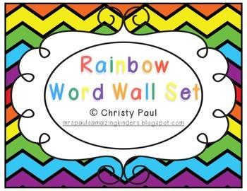 Rainbow Word Wall Set