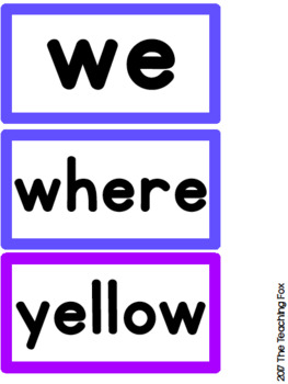 Rainbow Word Wall Sight Word Cards {Growing Set}