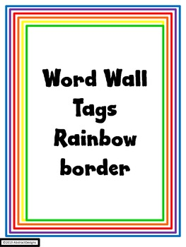 Rainbow Word Wall Tags