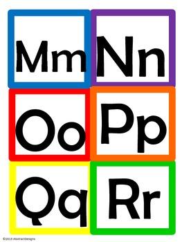 Rainbow Word Wall Tags