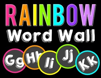 Rainbow Word Wall