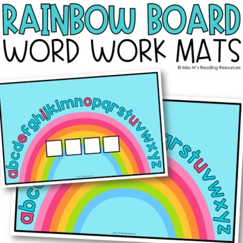Rainbow Word Work Mats