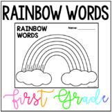 First Grade Wonders Rainbow Words