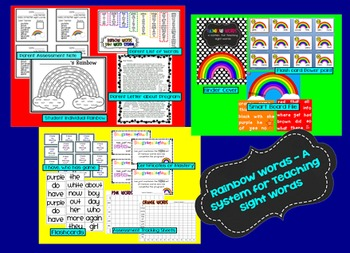 Rainbow Words - A Fun System for Teaching and Assessing Sight Words