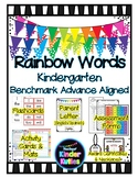Rainbow Words Packet BENCHMARK ADVANCE Aligned - Kindergarten