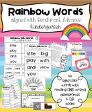 Rainbow Words Benchmark Advance Kindergarten Reading & Writing QR Codes