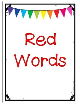 Rainbow Words Binder Cover FREEBIE