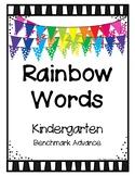 Rainbow Words Binder Cover FREEBIE