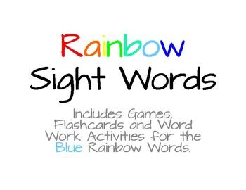 Rainbow Words - Blue List #8