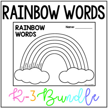 Rainbow Words- Complete Set for Kindergarten, First Grade and Advanced Students