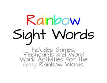 Rainbow Words - Gray List #11