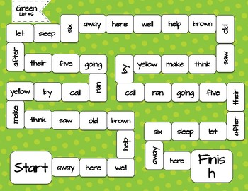 Rainbow Words - Green List #6