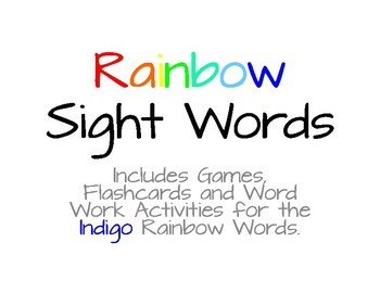Rainbow Words - Indigo #9