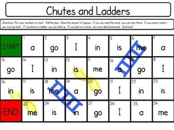 Rainbow Words - Kindergarten Sight Word Game Pack - 216 Games!