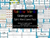 Rainbow Words - Kindergarten Sight Word Game Pack - 216 Games!