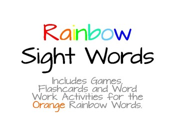Rainbow Words - Orange List #4