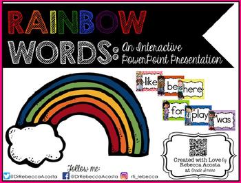 Rainbow Words PPT Presentation {Sight Words}