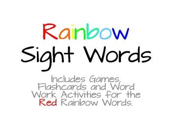 Rainbow Words - Red List #3