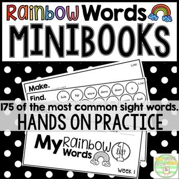 Rainbow Words- Sight Word Mini-Books